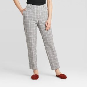 A New Day Plaid Mid Rise Ankle Pant Size 16